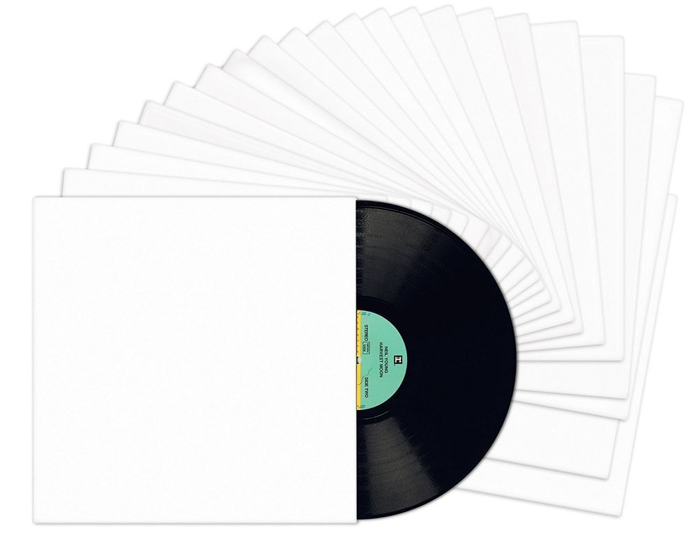 12 White Chipboard Cardboard No Hole Sleeves Jackets 100 Pack Lp Vinyl Records Record Jacket Vinyl Records Lp Vinyl
