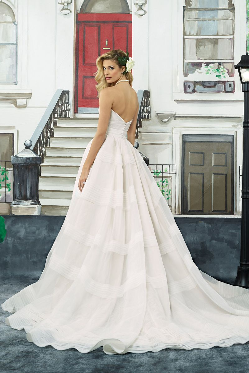 Justin Alexander - Style 8949: Tiered Organza Ball Gown with ...