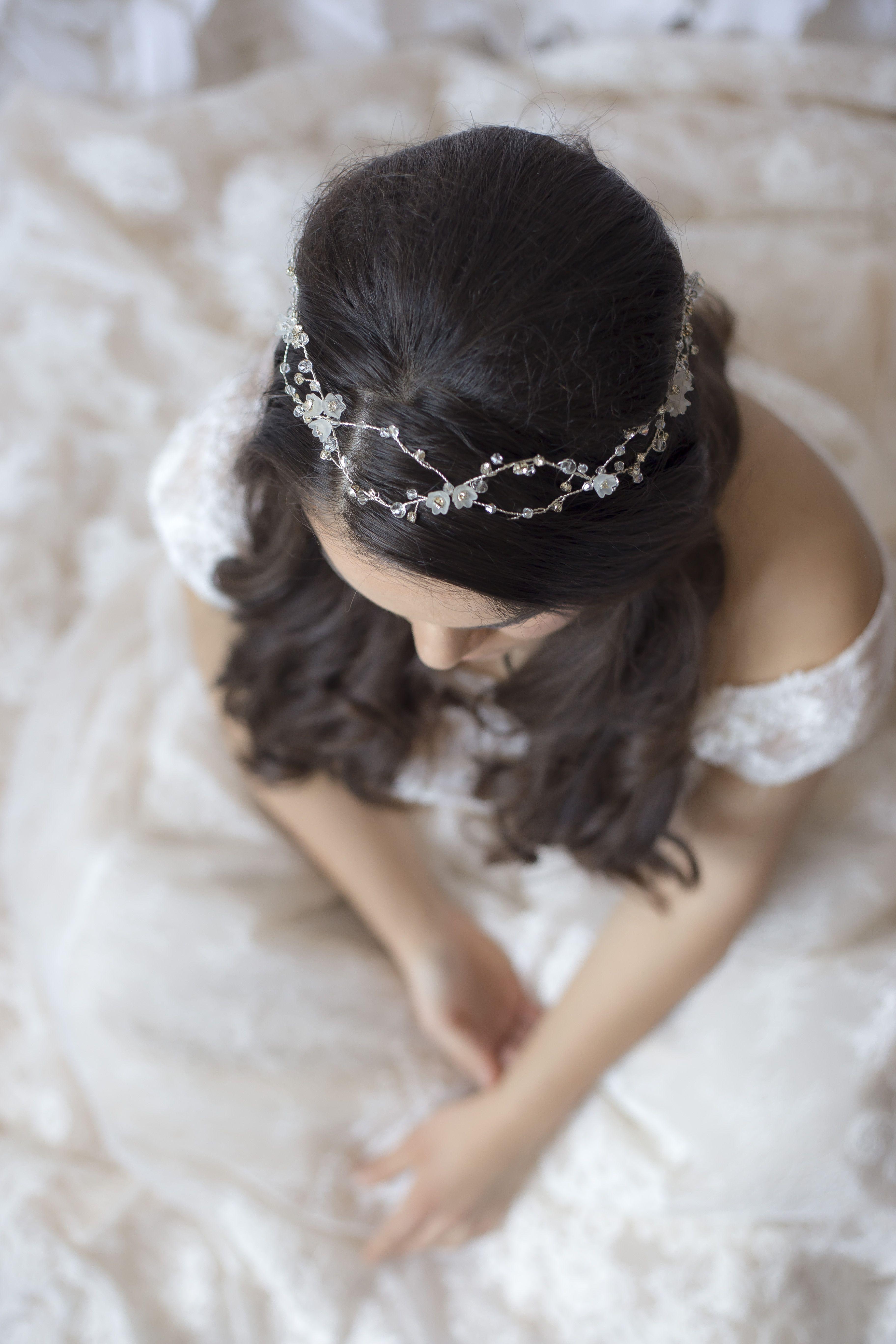 Bridal crystal headbandwedding crystal crownwedding hair