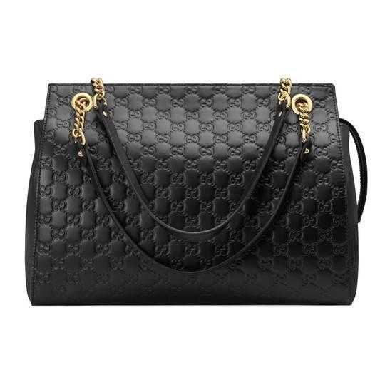 Sac à épaule Gucci Signature grande taille - Gucci Portés Épaule Femme  453771DMT1G1000 00fb861fb3f
