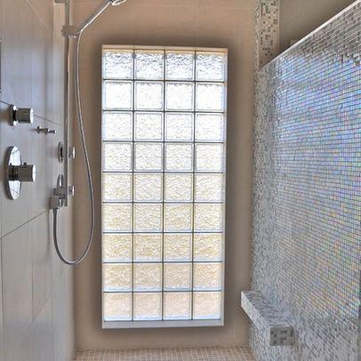 Shower Foot Rest Design Ladrillos De Vidrio Casas Tragaluz Techo