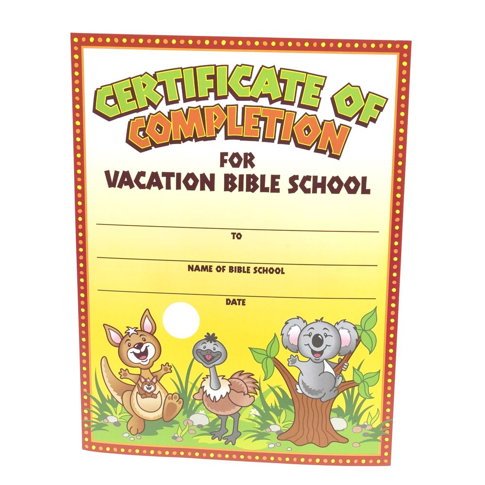 28+ [ Vbs Certificate Template ] in 2020 Vacation bible