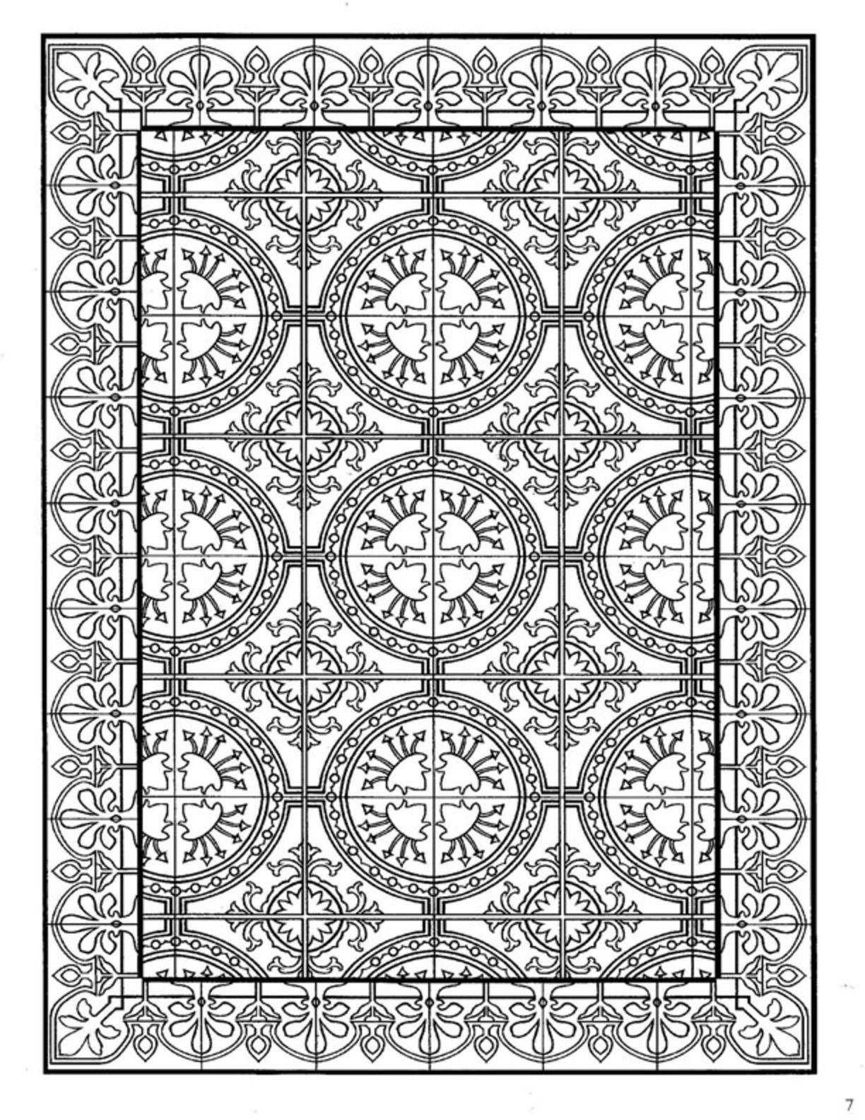 Tile Coloring Page - Clipart Library •