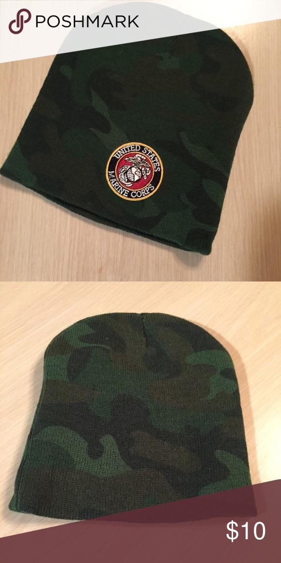 2c189d1ca6c Marine Corps Emblem Camo Beanie Brand new never worn! Marine Corps Emblem  on Camo pattern USMC Accessories Hats