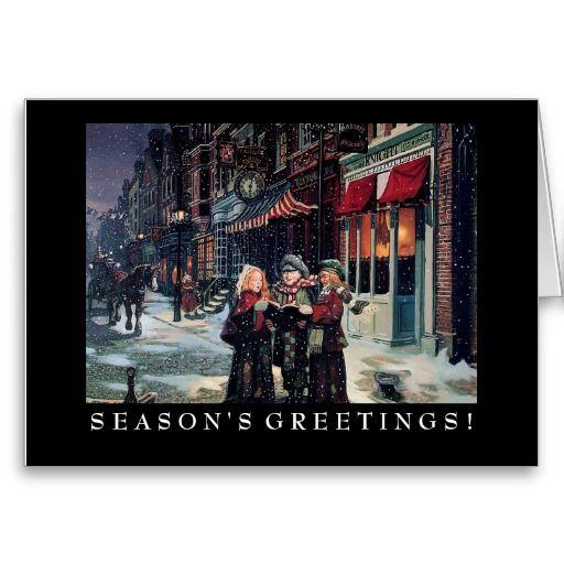 Business Christmas Card: Winter Caroling