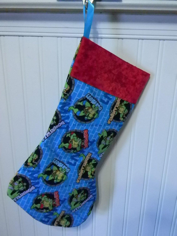 Teenage Mutant Ninja Turtles (tmnt) Circle Christmas Stocking ...