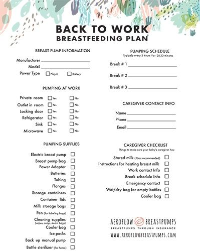 Breastfeeding Back to Work Plan Breastfeeding/Pumping Pinterest
