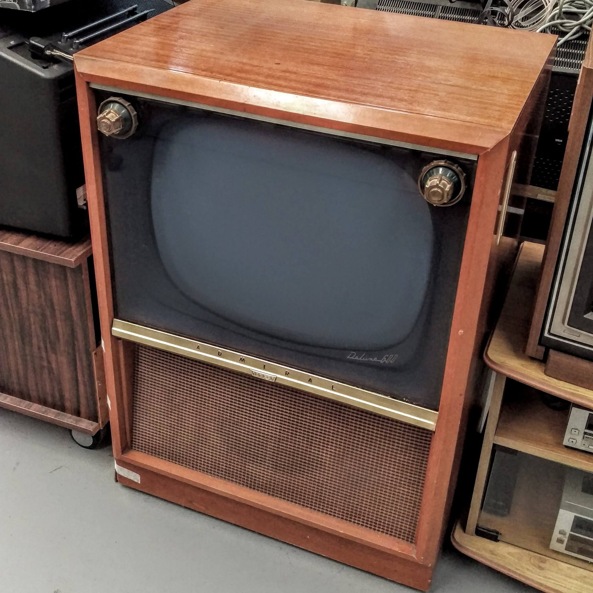 Tv Boxes Australia Admiral Tv From 1956 Courtesy Neogadgets Vintage Black