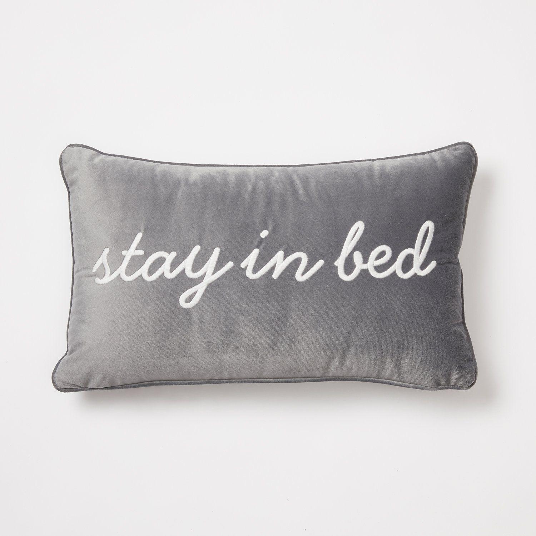 Stay in Bed Velvet Pillow