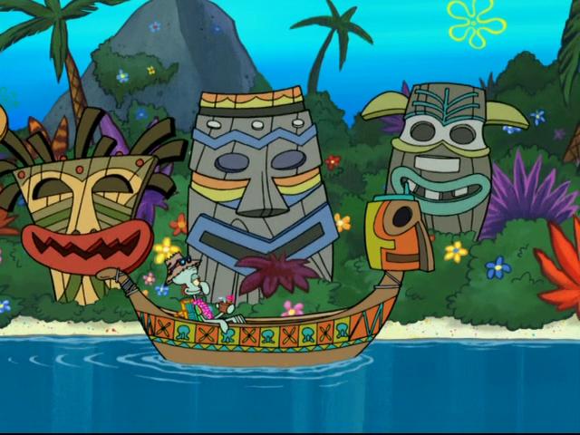 Squidwards Enchanted Tiki Land Hahaha Pinterest