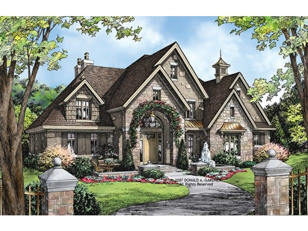 European Style House Plan 4 Beds 3 5 Baths 3484 Sq Ft Plan 929 915 European House Plans French Country House Plans House Styles