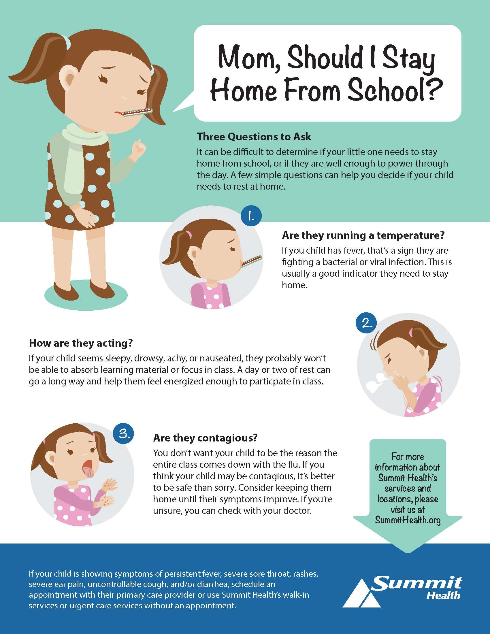 When Should You Keep Your Sick Child Home From School