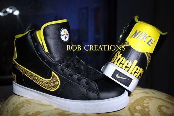 82139b034886 Nike Custom Pittsburg Steelers shoe by ROBcreations on Etsy