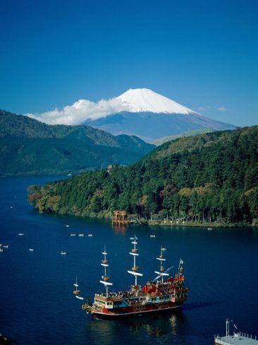 Mount Fuji and Lake Ashi, Hakone, Kanagawa, Japan
