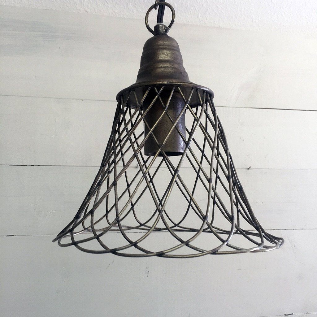 Farmhouse cage pendant light outdoor light fixtures