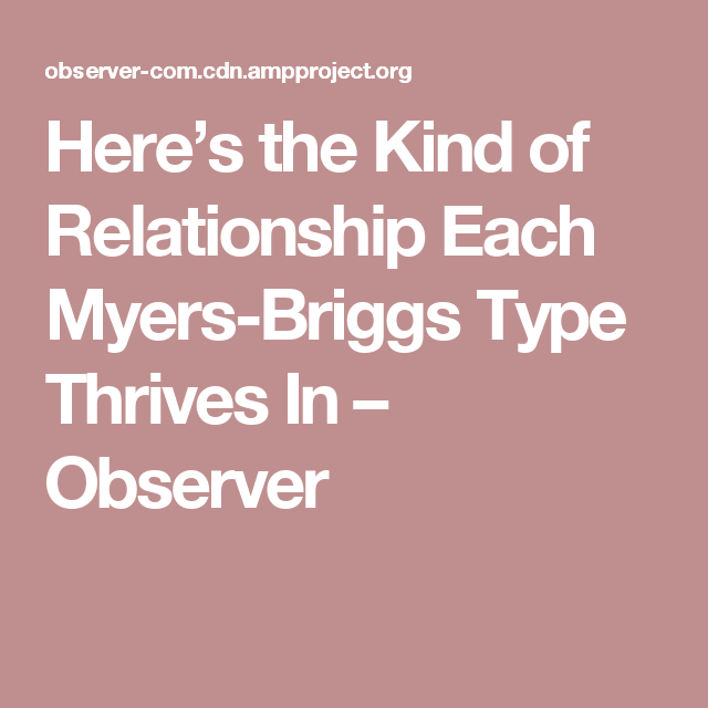 Myers Briggs personlighets typer dating