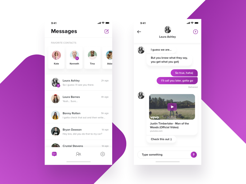 Chat App for iPhone X Chat app, Mobile app design, App