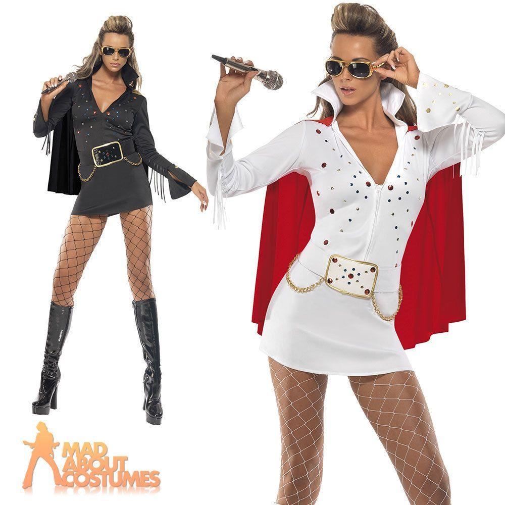 Ladies Elvis Fancy Dress Costume Viva Las Vegas Sexy