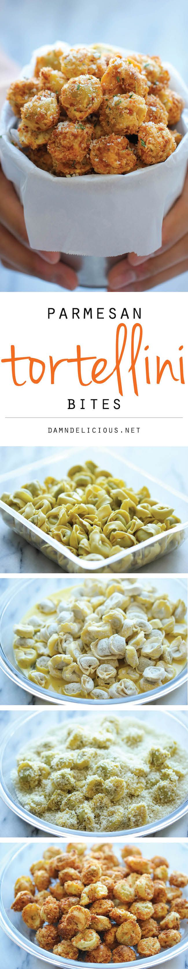 Parmesan Tortellini Bites - Damn Delicious