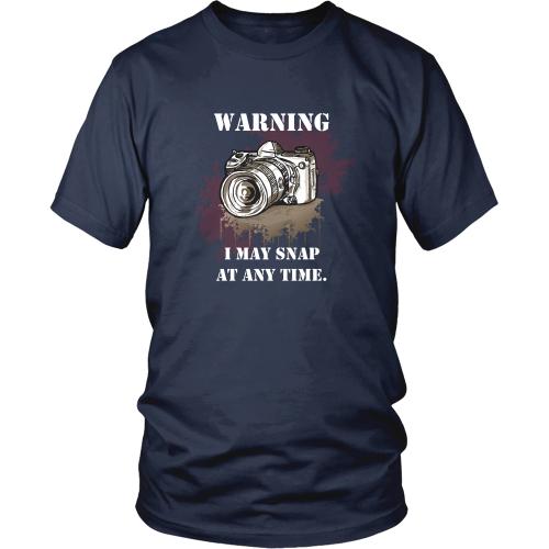 Photography T-shirt - Warning, I may snap at any time