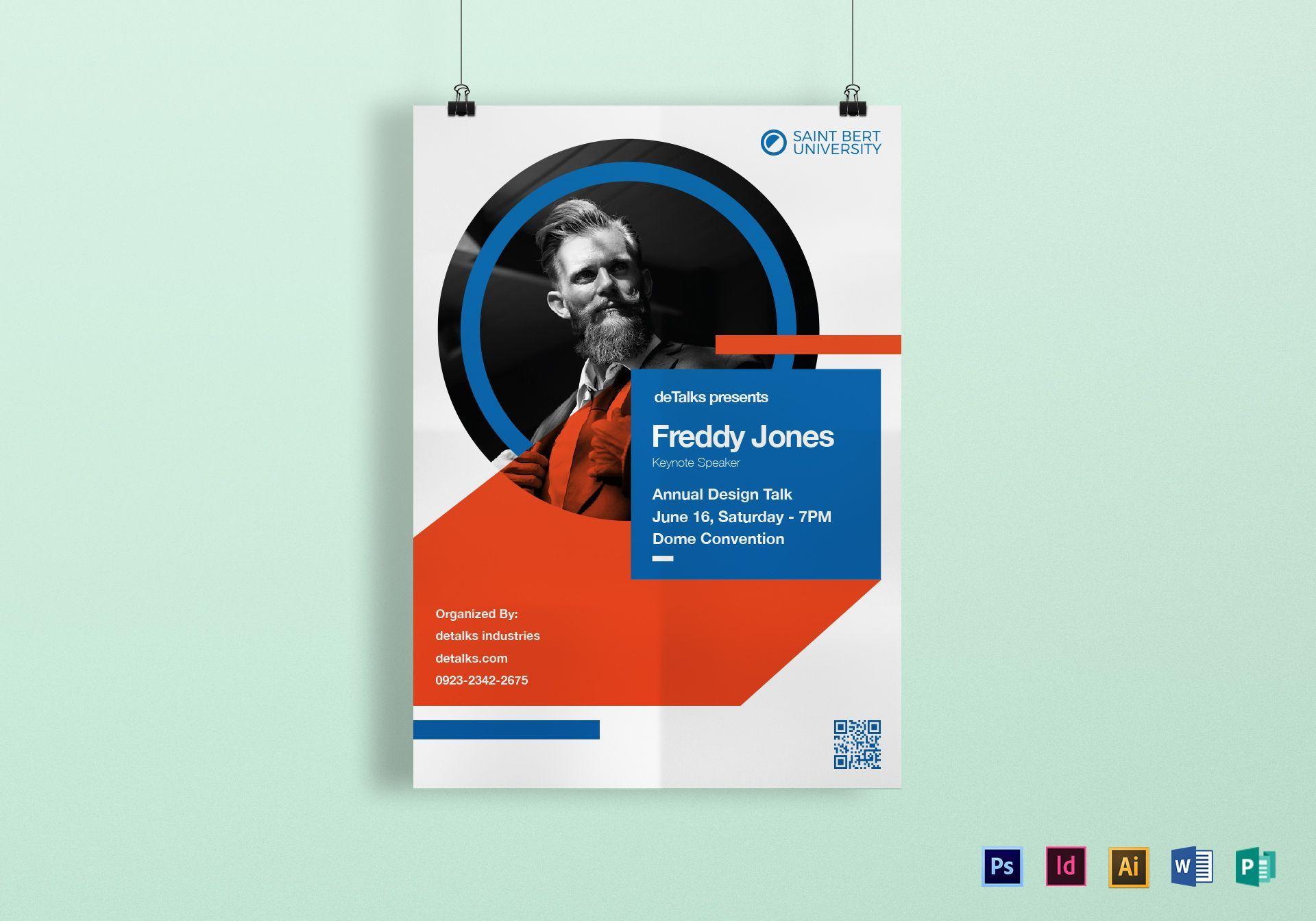 Image Result For Guest Speaker Poster Indesign Lecture Poster Event Poster Design Poster Template