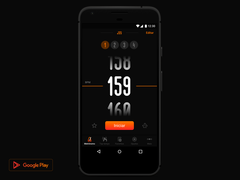Metronome by Cifra Club (Android) Metronome, Design