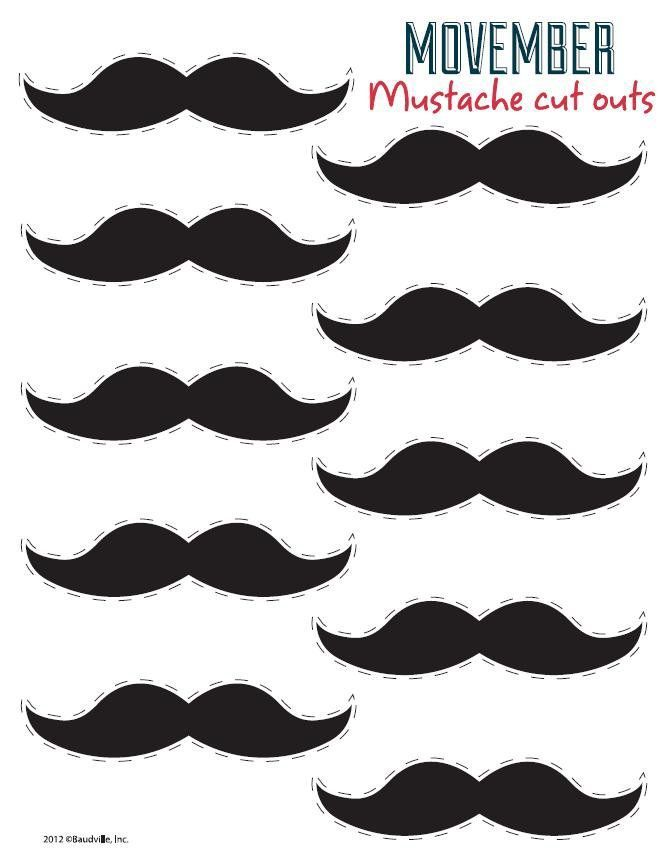 Free Printable Mustaches #Dad's #Baby #Shower. Click for more ...