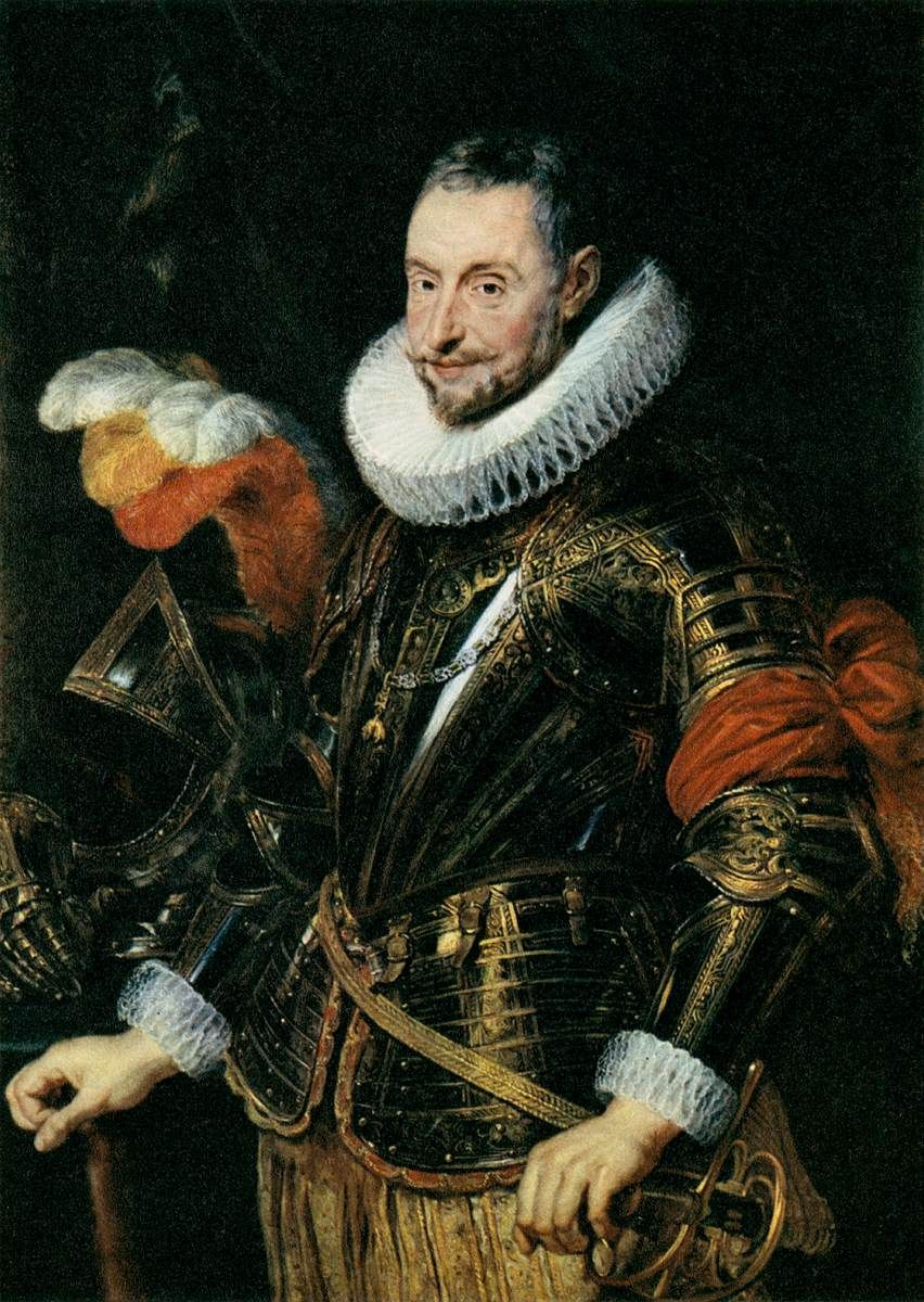 """oldroze:    Pieter Paul Rubens (1577 - 1640)    Portrait of Ambrogio Spinola  1625 - 1628,   National Gallery, Prague, Czech Republic Painting, Oil on oak, 117 x 85cm     Don Ambrogio Spinola Doria, 1st Marquis of the Balbases (1569 – September 25, 1630) was an Italian aristocrat, who, as a General in Spanish service, won a number of important battles for the Spanish crown. He is often called """"Ambrosio"""", especially in Spanish-speaking countries."""