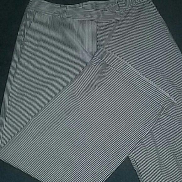 Ann Tylor Pants Navy blue pin strip Ann Taylor Pants