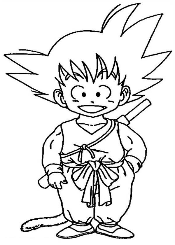 Little Goku In Dragon Ball Z Coloring Page Kids Play Color Dragon Ball Image Dragon Ball Dragon Coloring Page