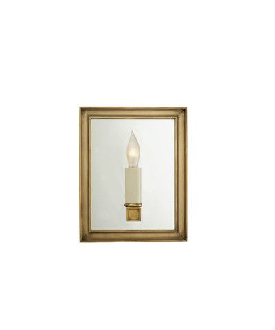 8 Lund Mirrored Sconce Antique Brass Wall Lights Visual Comfort Lighting Sconces