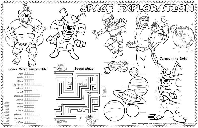 Placemat Coloring Pages for Kids | Gram Camp | Pinterest ...