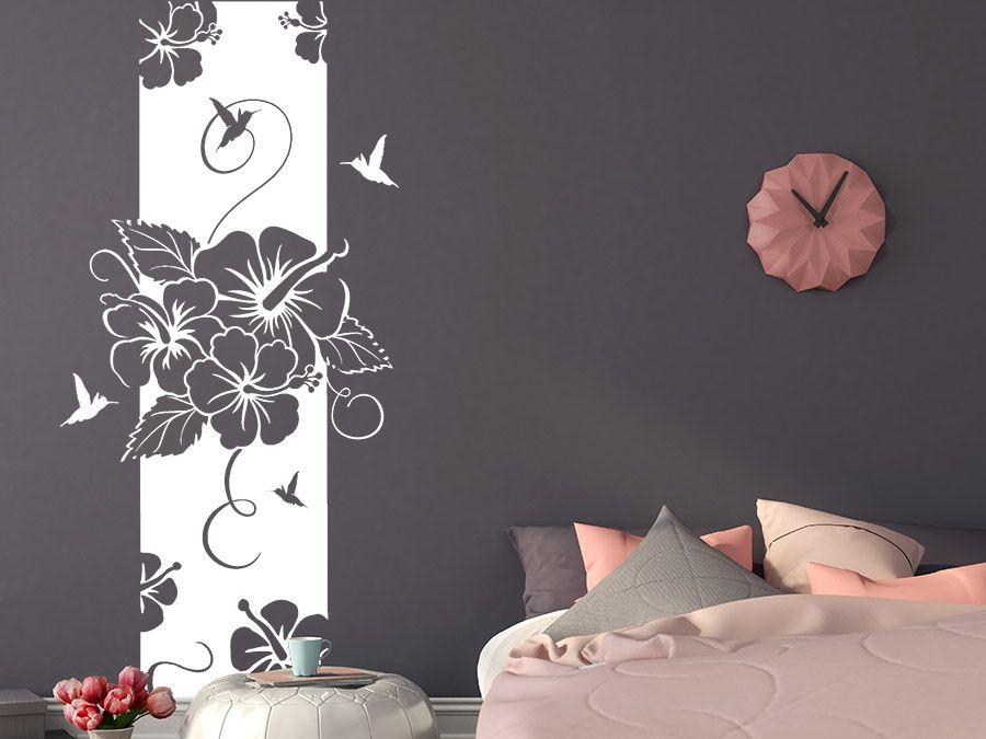 Wandtattoo Banner Hibiscus Wandbanner Xxl Wandtattoo De Wandtattoo Wandbilder Schlafzimmer Wandgestaltung