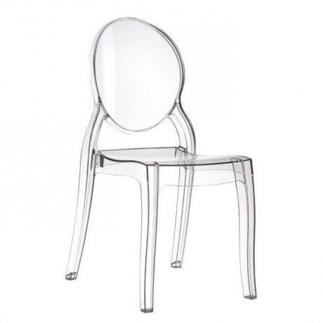 chaise m daillon transparente en polycarbonate elizabeth chaise transparente coiffeur et. Black Bedroom Furniture Sets. Home Design Ideas