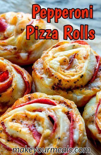 Hausgemachte Pizzabrötchen – Ein großartiger Party Food Appetizer oder Snack  – Pizza