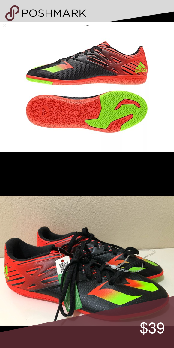 the best attitude e1035 81915 Mens Adidas Messi 15.3 Indoor Soccer Shoes 11 NWOB Men s size 11 Messi  indoor soccer cleats. adidas Shoes Athletic Shoes