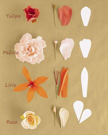 Moldes De Flores De Papel Crepe Paso A Paso Pesquisa