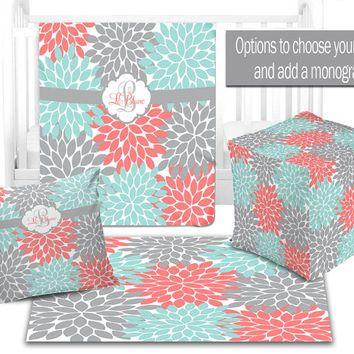 Teal And Coral Design 5u0027x7u0027Area Rug. Babies Nursery