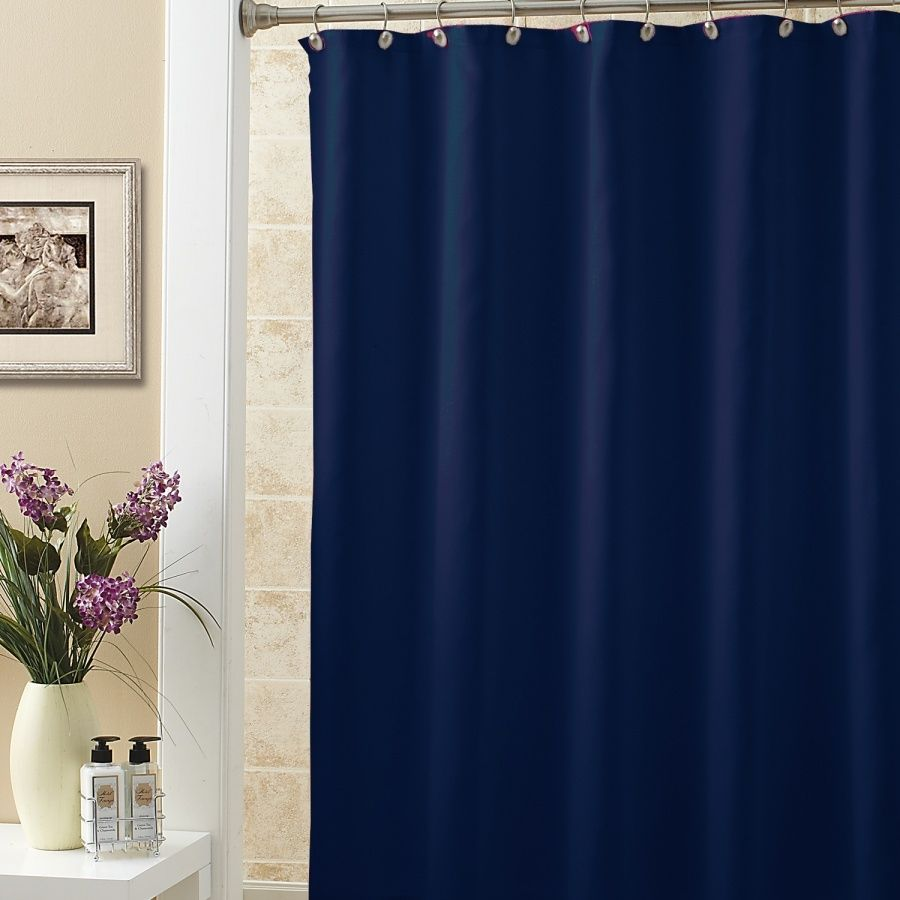 Shower Curtain Liner Navy Blue