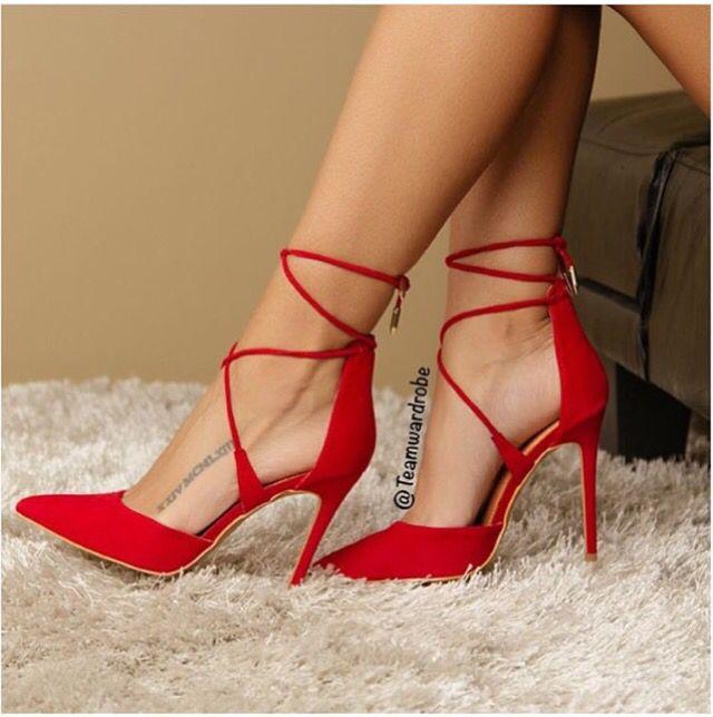 Strappy Red Heels Heels Zone