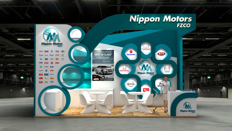 D Exhibition Stall Designer Jobs In Dubai : Nippon motors exhibition stand design for automechanica dubai uae