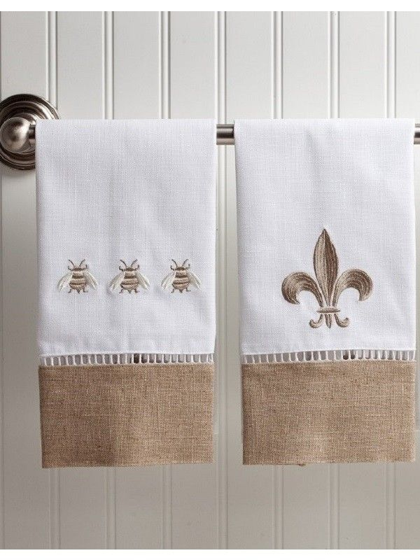 Looking For The Perfect Decor To Add Your Guest Bathroom Choose Our Beautiful Embroidered Towels In Waffle Weave Or Linen