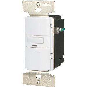 Motion-Activated Occupancy Sensor Wall Switch, White: Since my husband informs me that door jamb light switches are just not practical for every room in the house!