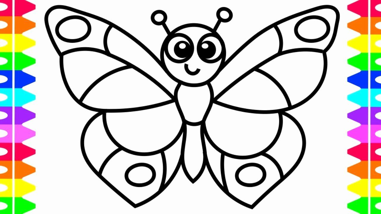 Baby Coloring Pages For Kids Elegant Learn How To Draw A Butterfly Easy Coloring Pages For Butterfly Drawing Butterfly Coloring Page Butterfly Drawing Outline [ 720 x 1280 Pixel ]