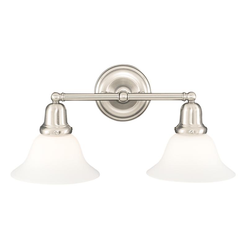 Photo of Edison Collection 2 Light Bath Bracket | Finish: Polished Nickel