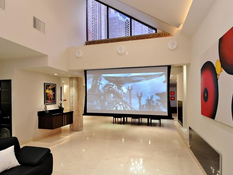 Awesome Home Teather Design In Living Room Photo, Photo Home Teather Design In  Living Room Photo