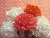 Hand Made Tissue Paper Flowers
