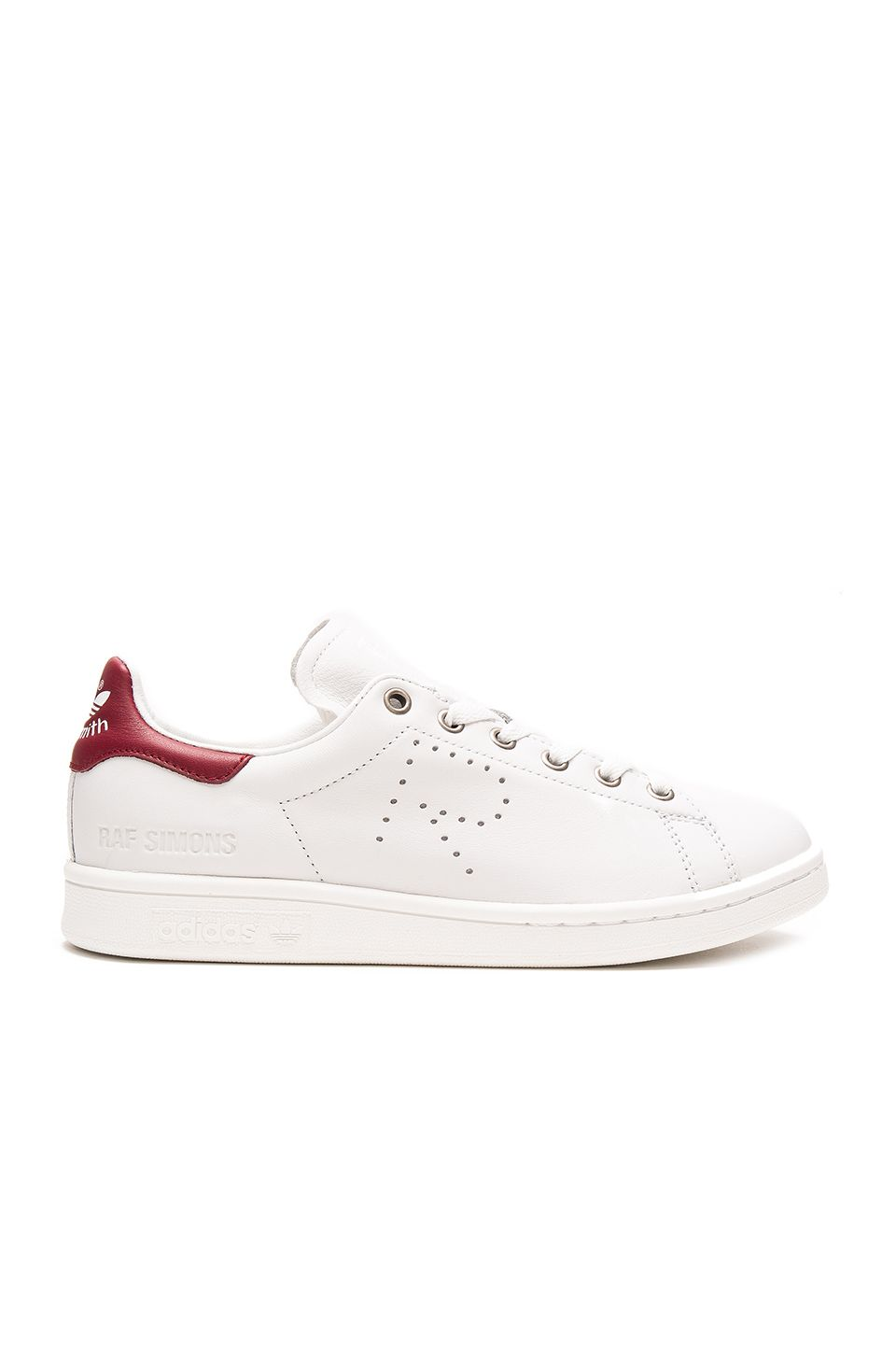 a51c9eb1c88 adidas by Raf Simons Stan Smith Sneaker in Vintage White   Collegiate  Burgundy