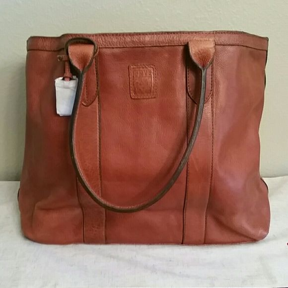 27a381404cdd Frye Sylvia Extra Large Travel Tote Spice Features: 100% Leather ...