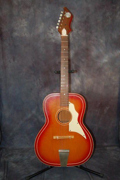 Rare Truetone By Kay Western Fender Style Headstock Pro Setup 1968 Redburst Guitar Vintage Guitars Cool Guitar
